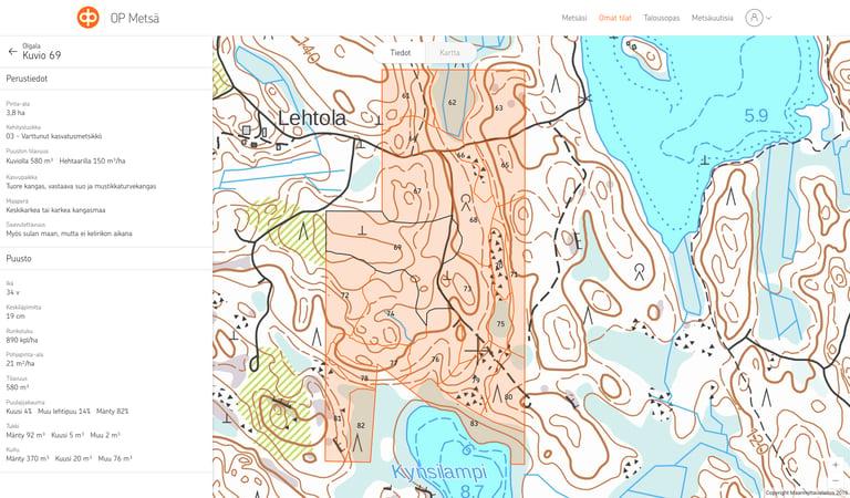 OP Metsä karttakuva